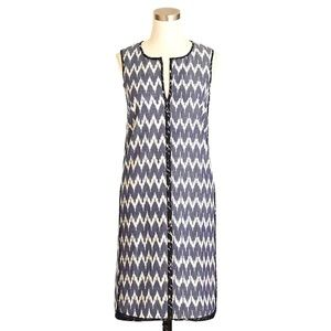 J. CREW Sleeveless shift dress in zigzag ikat